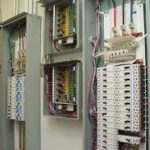 Electrician, , installing electrical wiring