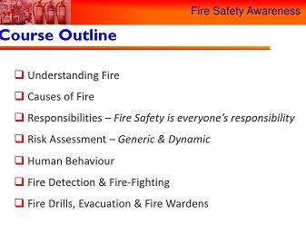 electrician, fire awareness Program