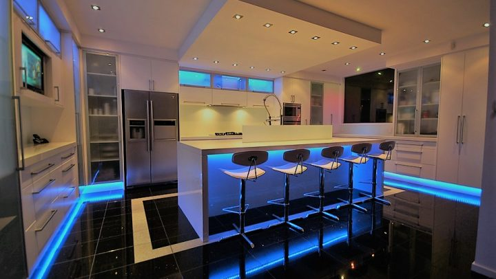 kitchen lights, electrician, residential